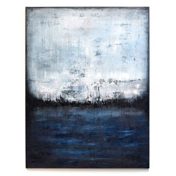 AD626 Deep blue abstract painting