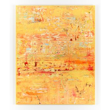 Yellow abstract painting AH723