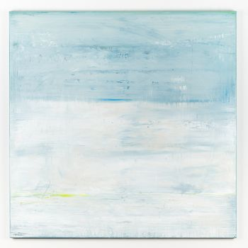 Blue abstract painting AO341