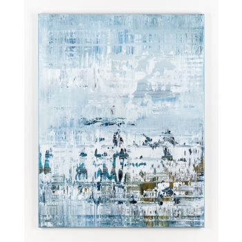 Blue abstract painting AO821