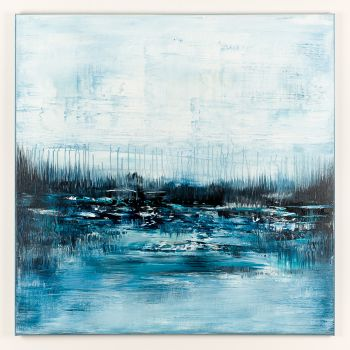 Blue abstract landscape AS027