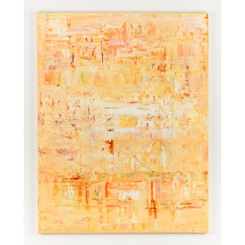 Yellow abstract painting AW699