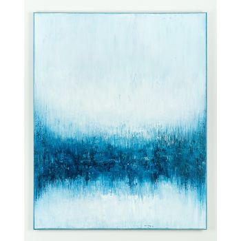 Blue abstract painting AZ321