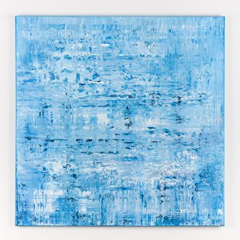Blue abstract painting BH466