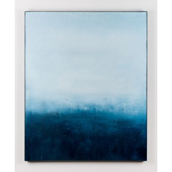 Blue abstract painting BT146