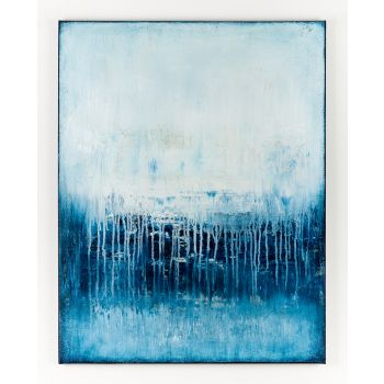 Blue abstract painting BT797