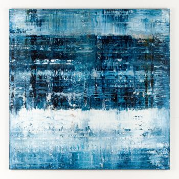 Blue abstract painting CK312