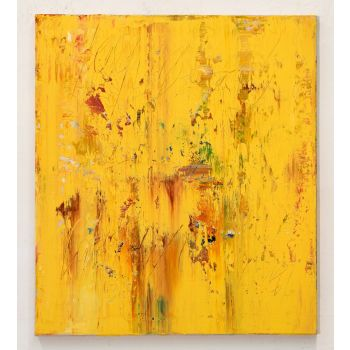 CU054 Yellow abstract painting