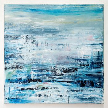DH337 Blue abstract painting