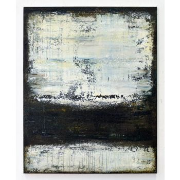 DT856 Brown white abstract painting