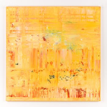 Yellow abstract painting DU774