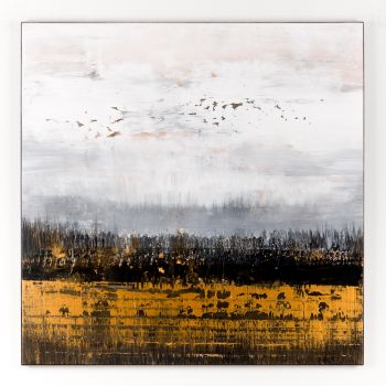 Gold abstract painting GB451