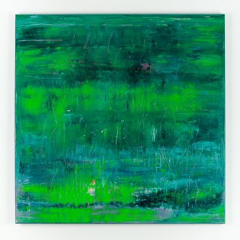 Green abstract painting HZ585