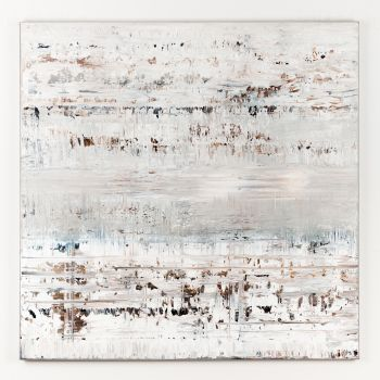 White abstract painting LD314