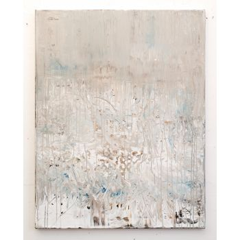 White abstract painting NC388