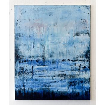 Blue abstract painting PD147