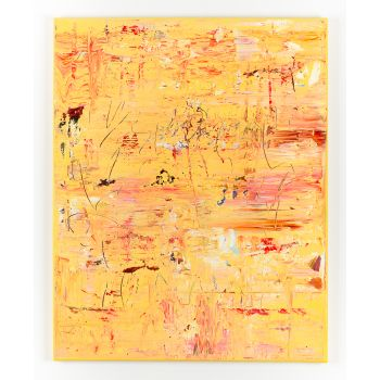 Yellow abstract painting PL754