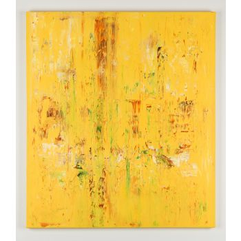 Yellow abstract painting SK436