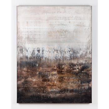 Brown abstract painting WL493