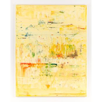 Yellow abstract painting YP473