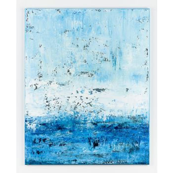 Blue abstract painting ZC645