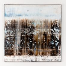 Brown abstract painting BH641